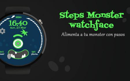portada step monster wear os watchface